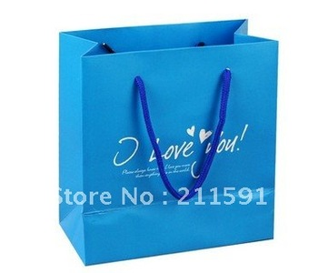Customer Logo Recycled Paper Shopping Bag for Clothes and Shoes Packaging