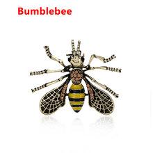 1PC Vintage Ape In Metallo Spille Insetto Spilla Spille Le Donne e Gli Uomini Dei Monili Carino Piccolo Bumblebee Distintivi e Simboli Panno di Modo Decori accessori(China)