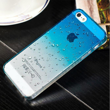 Phone Protective Shell 3D Raindrops Waterdrop Gradient Cases Cover For Iphone5S 4 4s Case For IPhone 5 6 6plus 7 7plus Case(China (Mainland))