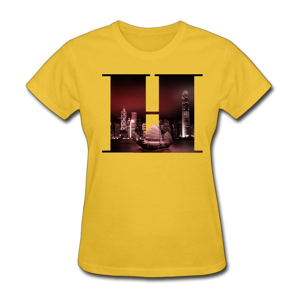 Screw Neck Hongkong Women's t shirt at Factory Price Newest Women t shirts(China (Mainland))