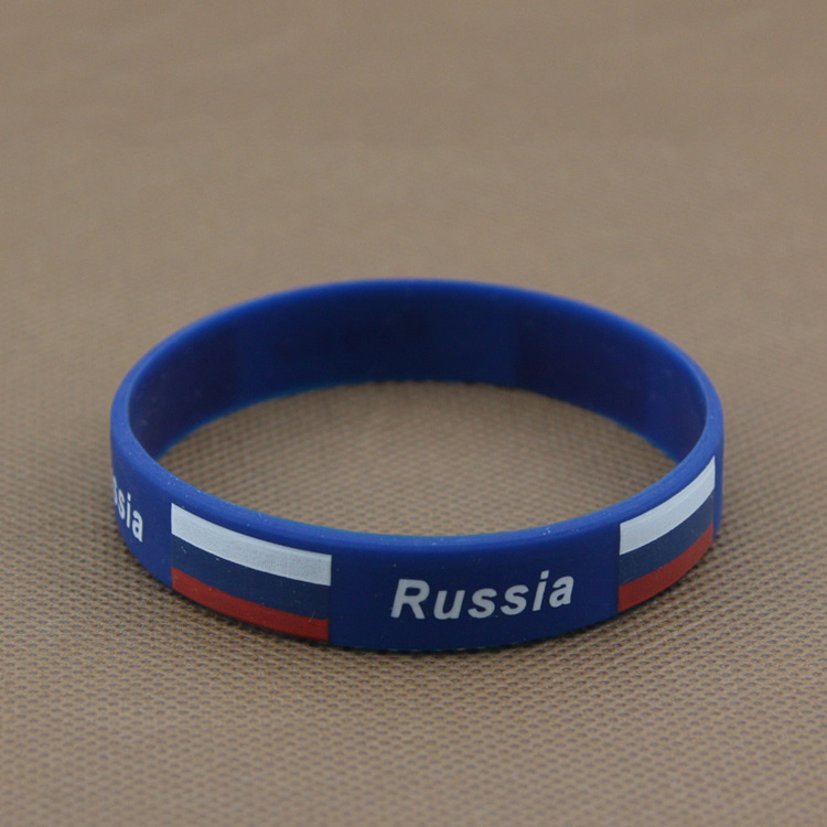 International Nation Wristband Silicone Bangles Bracelet Men Bracelete Masculino For 2016 Rio Sports Games European Soccer(China (Mainland))