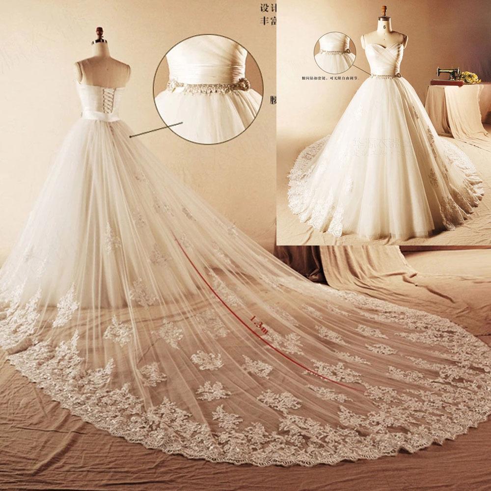 gown lace 2015 wedding dress detachable train long corset back bridal