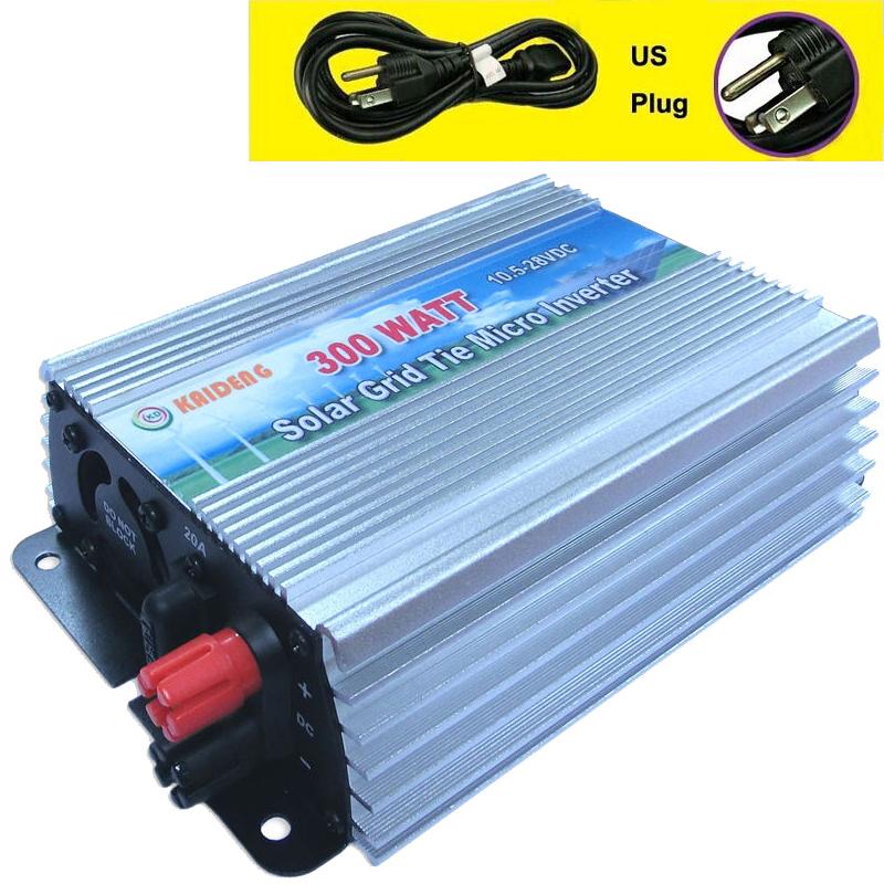 300W Inverter Grid Tie Inverter Solar Power Inverter 300 Watt 120V Pure Sine Wave Inverter US Plug GTI-300W(China (Mainland))