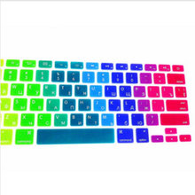 Rainbow RUSSIAN Silicone US Keyboard Cover Skin Sticker Protective FILM For Apple MacBook Pro air 13 15 17 for macbook 13inch