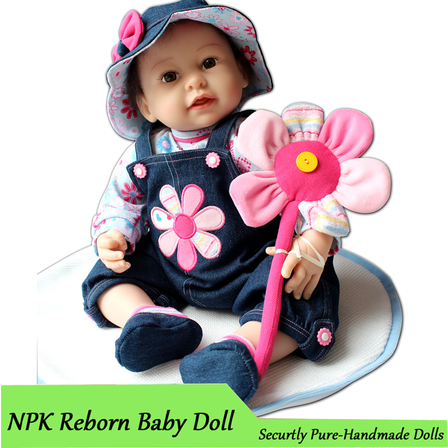 22inch/ 55cm Handmade Silicone Reborn Baby Doll Soft Touch Lifelike Cute Dolls with Clothes Free Shipping 2015 New Arrival Toys(China (Mainland))