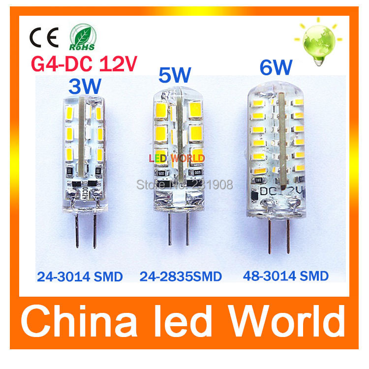 10pcs/lot led G4 3014 SMD 3W 5W 6W DC 12V G4 LED Lamp 20W halogen lamp g4 led 12v LED Bulb lamps warranty 2Y Lighting Spotlight(China (Mainland))