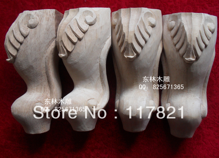Chinese woodcarving home accessories European furniture cabinet legs table wood carving zt-037