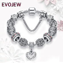 Authentic Silver Plated 925 Starfish Eiffel Tower Snowflake Crystal Heart Charm Beads Fit Original Bracelet Women DIY Jewelry(China (Mainland))