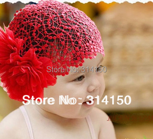 FREE SHIPPING---Girls pink lace headbands toddlers hair ornaments with big flowers baby wide headbands 2pcs/lot