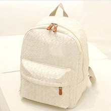 2015 new women fashion designer brand backpacks nylon shoulder bags Lace Hollow out small lady school bags mochila cute bags (China (Mainland))