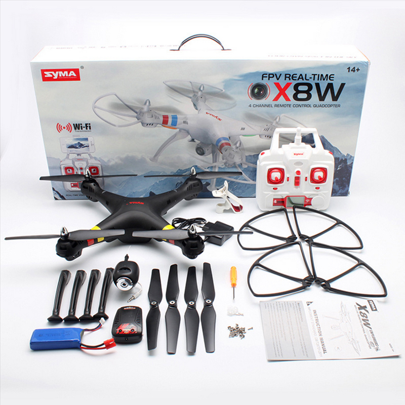 WiFi Real Time video 2.4G 6 Axis syma X8W RC Helicopter with Camera Quadcopter with camera 4ch(China (Mainland))