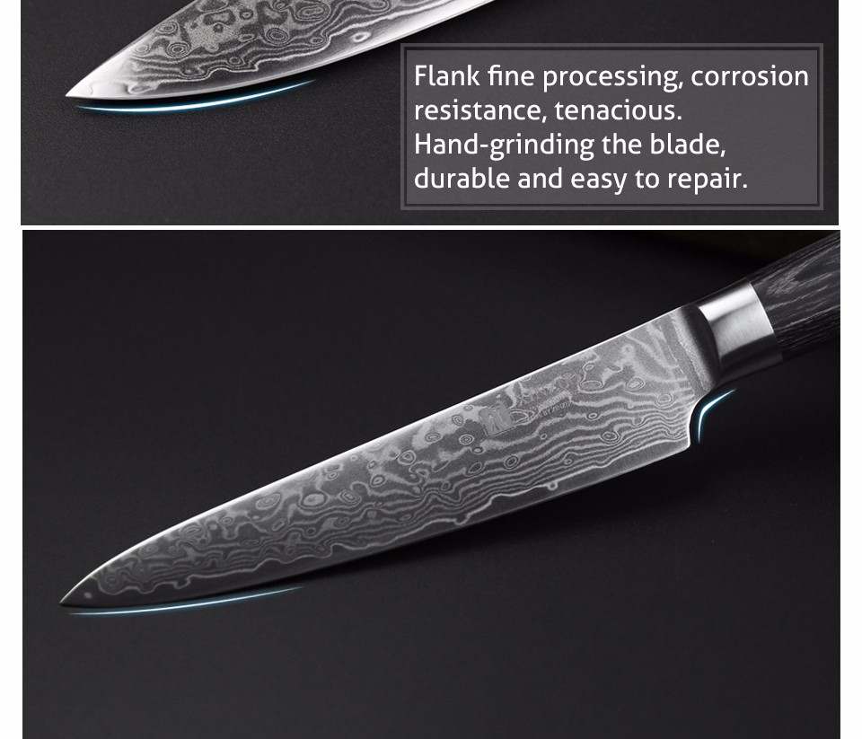 Buy NEWEST XINZUO 5 pcs Kitchen knives set Damascus kitchen knife Japanese chef knife sharp chef cleaver paring knife free shipping cheap