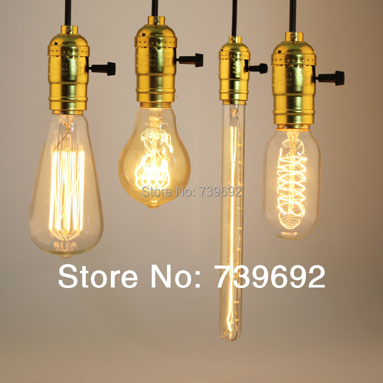 (3pcs/lot) antique american style fashion brief gold E27 aluminum pendant lightS with1.2 meter electrical wire(China (Mainland))