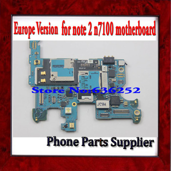 Europe Version Unlocked & 100% Original Main Board For Samsung Galaxy Note 2 N7100 Motherboard with Chips Free Shipping