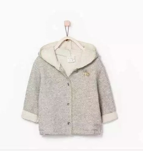 Здесь можно купить  New boys  baby Bee embroidery looped fleece coat children