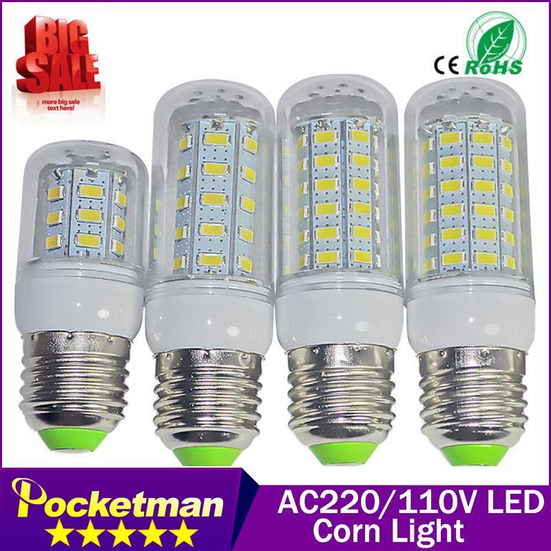 SMD 5730 E27 E14 LED Lamp 24/36/48/56/69leds 5730SMD LED Lights Corn Led Bulb Chandelier Candle Lighting Home Decoration(China (Mainland))