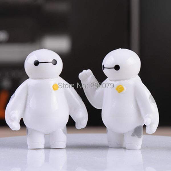 Big Hero 6 Baymax Vinyl Doll Anime Mini PVC Action Figures Robot Model Toy Set Kids Toys Gift Boys Children Girls - Store store