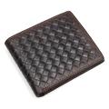 Genuine Leather Men Wallet 2017 Famous Brand Designers Male wallets Reticular Pattern Unisex Coffee Bifold Wallet