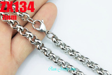 """Buy 16""""-38"""" length 7mm big round rolo link chain 316L stainless steel necklace women male fashion punk chains 10pcs ZX134 for $35.00 in AliExpress store"""