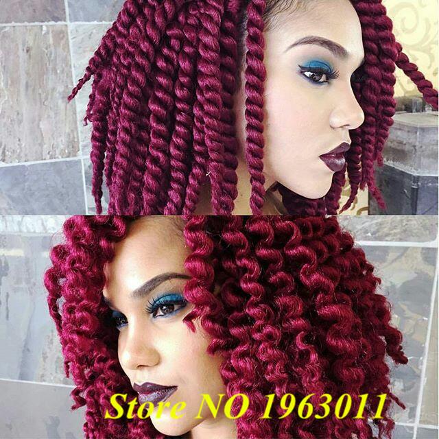 Здесь можно купить  Hot sale burgundy havana twist braid, Synthetic Senegalese Hair Crochet braiding, box braids synthetic hair   Волосы и аксессуары