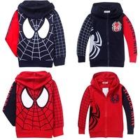 новую одежду человек паук дети мальчики Толстовки Толстовки куртки пальто и пиджаки