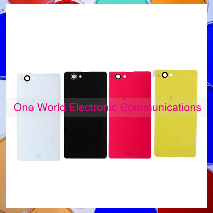 50pcs Original Back Glass Battery Back Cover Case Rear Door For Sony Xperia Z1 Mini Compact Housing white black yellow and red