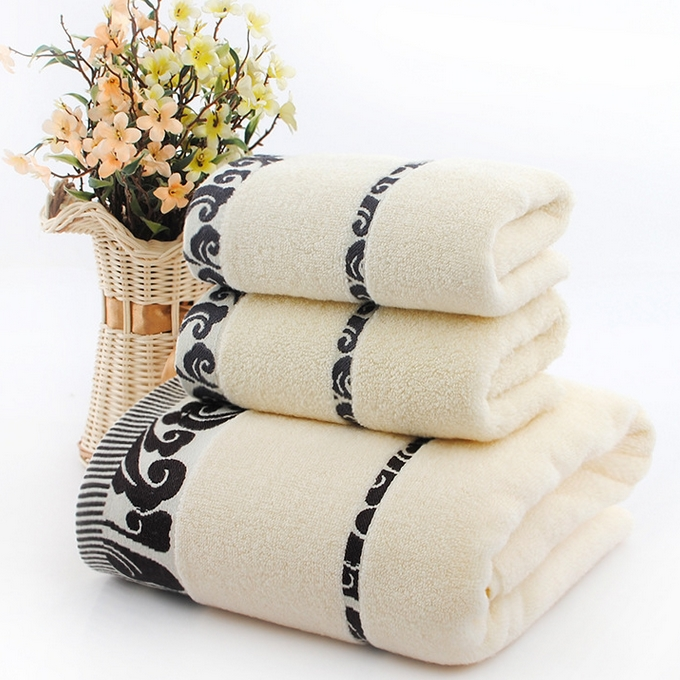 Free shipping, Towel set, new 2016 high quality pure cotton face towel, soft, anti-bacterial, jacquard beach towel(China (Mainland))