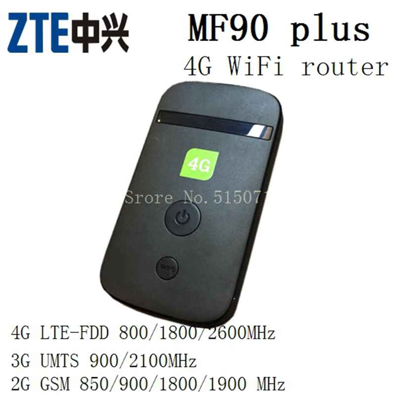 Newest unlocked 4g lte wifi router MF 90plus LTE FDD LTE-FDD 800/1800/2600MHz 4g lte MiFi dongle pk E5878 e5776s-32(China (Mainland))