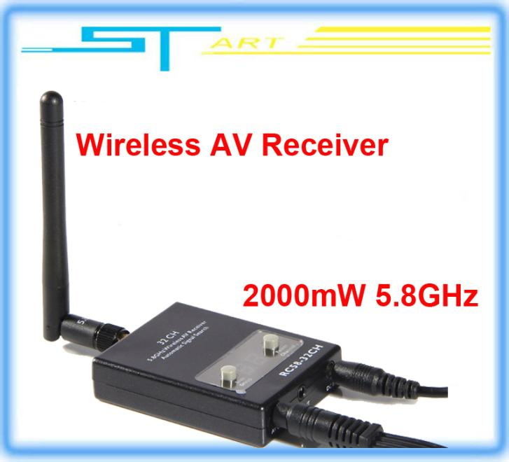 2014 new version FPV RC58-32CH 2000mW 5.8GHz Wireless AV Receiver Auto Signal Search for TX58-2W rx RC helicopter Drop  kids toy