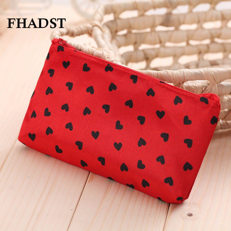 FHADST Women Cute Multifunction Beauty Zipper Travel Cosmetic Bag Letter Makeup Bags PouchToiletry Organizer Holder Beautician(China (Mainland))
