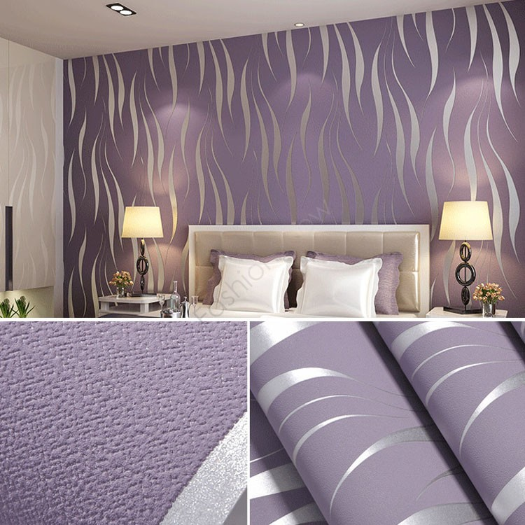 New European Style 10M Roll Modern 3D Wallpaper Living room/Bedroom Wallpaper Wall Covering Home Wall Decoration US50(China (Mainland))