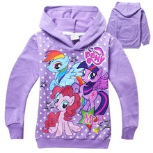 2015 New arrival Girls hoodie sweater My Little Pony Childr