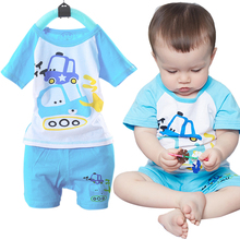Buy Cotton Summer Cartoon Kids Clothing Sets Toddler Baby Boys Girls Clothes Short Sleeve T-shirt+Pants Infant Children Casual Suits for $4.51 in AliExpress store
