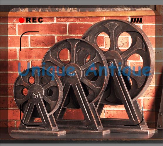 Handmade Metal Retro Industrial Wheel SET(3 pieces) Home/Pub/Office/Living Room Creative Ornaments Decoration(China (Mainland))