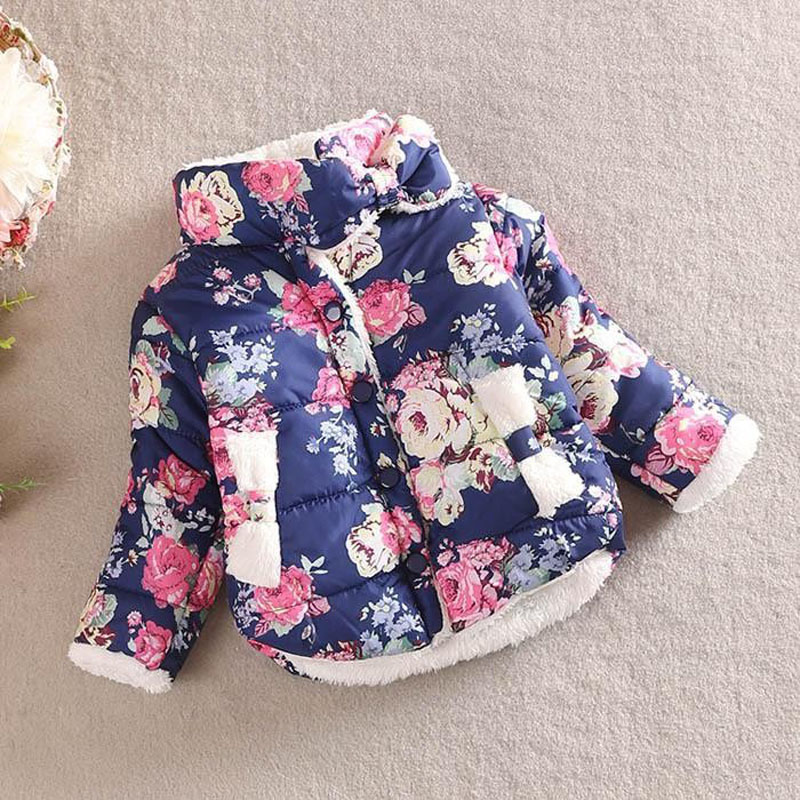 Children jackets baby girls parka winter Coats full sleeve coat warm winter jacket for girls boy Outerwear Thick girl clothing(China (Mainland))
