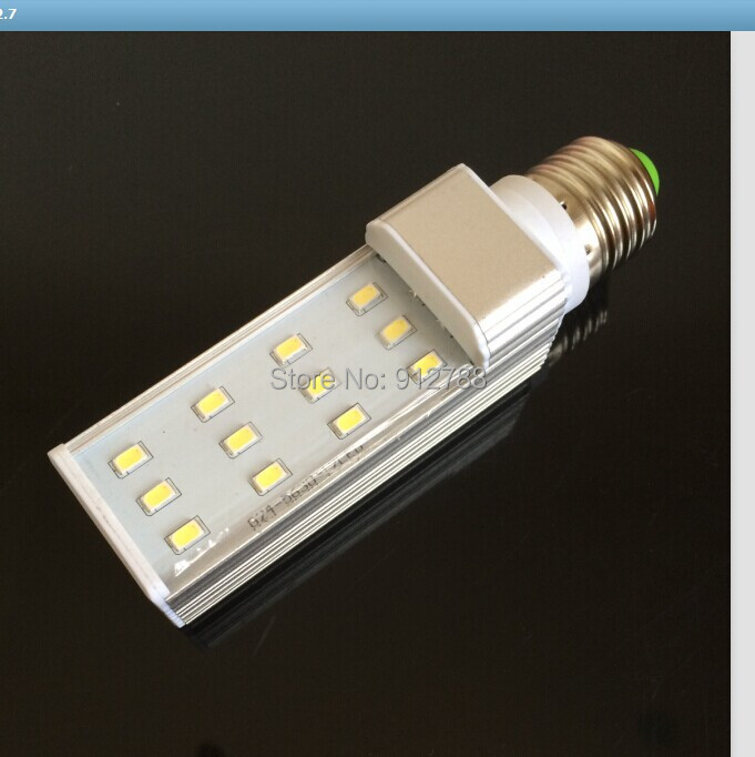 [Brand quality assurance] E27 PL LED 7w 5630smd WW/CW with 12pcs also have g24/g23 base led x10units(China (Mainland))