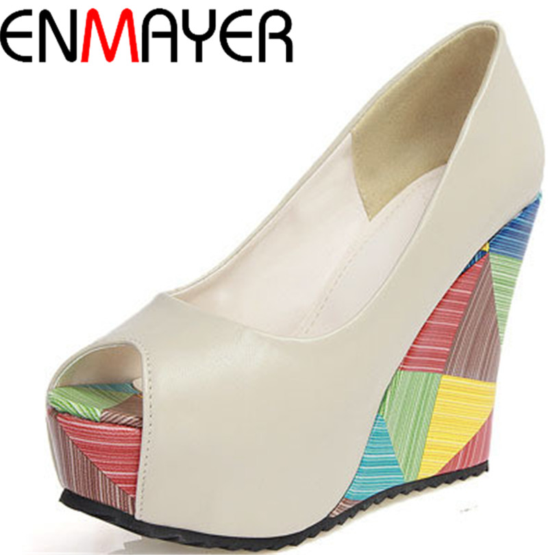 Buy enmayer new fish toe women 39 s platform for Platform shoes with fish