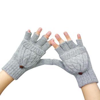 2016 Hot Gloves women fashion luxury Mitten Warmer Winter Half Fingerless Gloves For Girls Female Guanti invernali donna