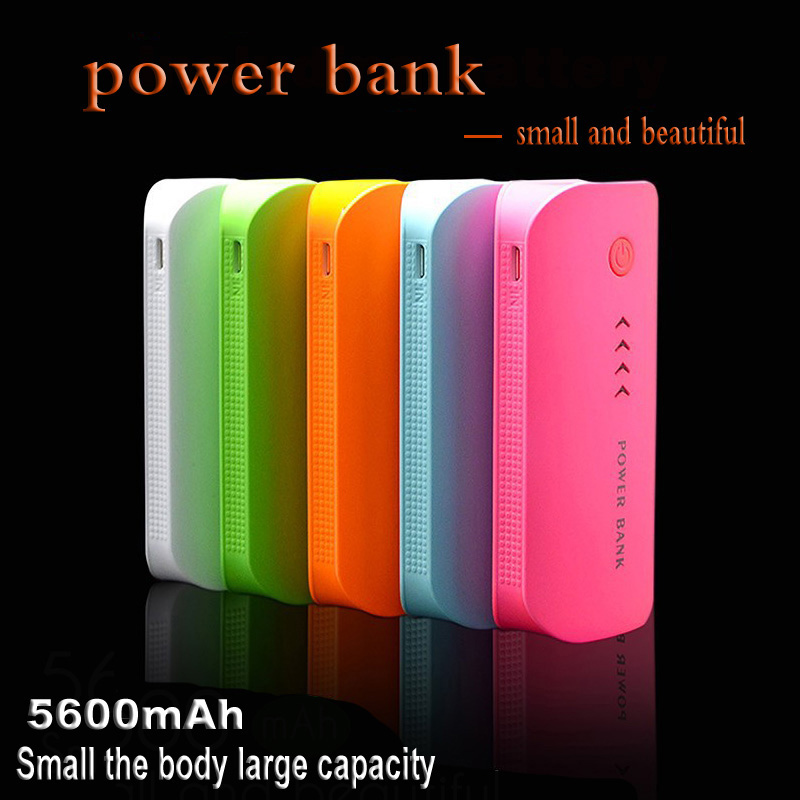 DCAE Hot Sale Power Bank Real 5600mah Cute Portable Charger Pocket Rechargeable External Battery Pack WIth Indicator Light(China (Mainland))