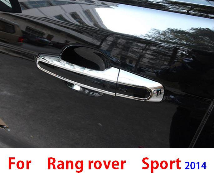car Exterior Chromium Styling Accessories 2014 2015 range rover sport door handle bar cover trim frame sticker - Car Of The World store