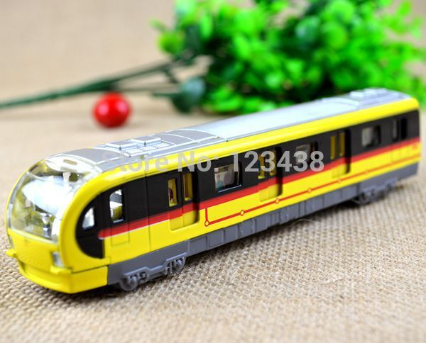 Electronic Musical And Light Metro Subway Train Pullback Model Diecast Toy Diecast Diecast Models(China (Mainland))