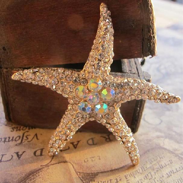 Min.$15 (Mixed Order) Cell Phone Case DIY Charms Alloy Starfish Decoration Rhinestones AC093(China (Mainland))