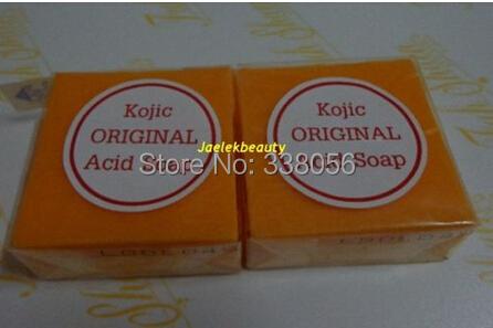 Free Shipping 2 BARS KOJIC ACID SOAP WHITENING/BLEACHING/LIGHTENING(China (Mainland))