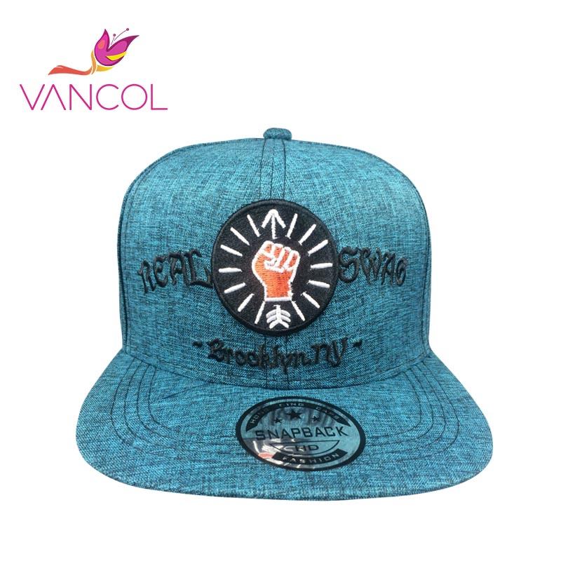 Vancol Mens Real Swag Cotton Embroidery Letter Gorras Bone Chapeau Summer Hats Flat Snapback Hip Hop Caps NY Cap Brooklyn Hat(China (Mainland))