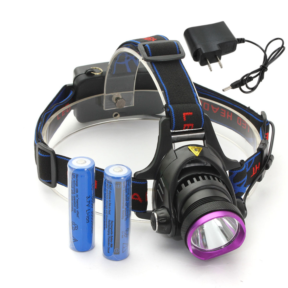 NEW Waterproof 2000LM 3 mode CREE XM-L T6 focus LED Headlamp Headlight Head Torch Lamp Flashlight+2x 18650 Batteries+AC charger<br><br>Aliexpress