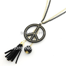 Fashion Gold Plating Peace Pendant Necklace Jewelry For Woman (China (Mainland))