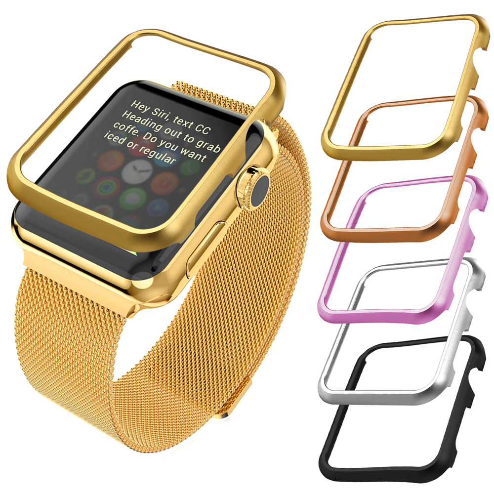 Protect Case Ultrathin Platinum/18K Yellow Gold/Rose Gold Plated 42mm/38mm Protective Case for Apple Watch Accessory APB1756(China (Mainland))
