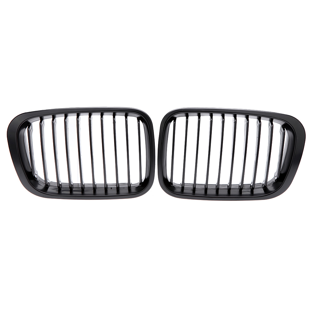High quality Front Black Wide Kidney Hood Grille Replacement Auto Car Styling Mesh Grille for BMW 98-01 3-Series E46 4DR 99 00(China (Mainland))