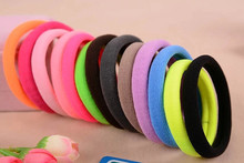 Buy 10pcs/lot Big Size Candy Colored Elastic Ponytail Holders Accessories Girl Women Rubber Bands Tie Gum (Mix Color) for $0.94 in AliExpress store