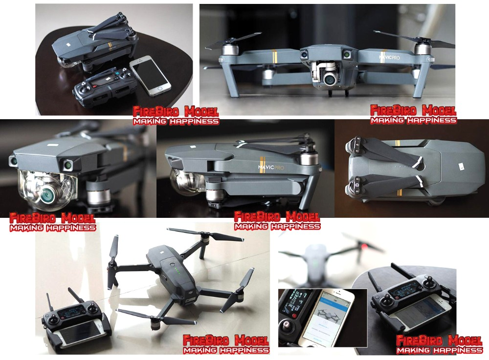2016 Newest DJI Mavic Pro Folding FPV Drone RC Quadcopter With 4K HD Camera, Built in OcuSync Live View GPS and GLONASS System